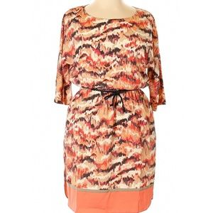Eliza J Dresses - Eliza J Printed Dress with Cut Out Sleeves Size 14